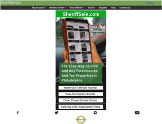 sheriffsale.com screenshot