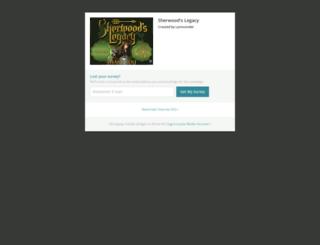 sherwoods-legacy.backerkit.com screenshot