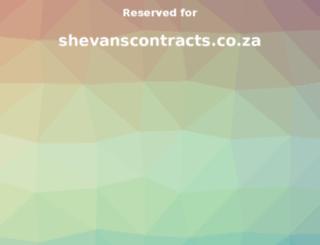 shevanscontracts.co.za screenshot