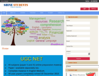 shinestudents.com screenshot