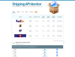 shippingapimonitor.com screenshot