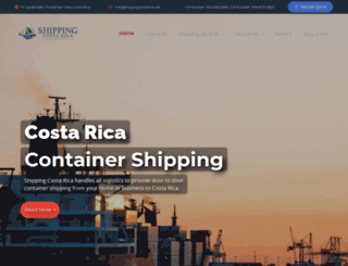 shippingcostarica.net screenshot