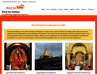 shirdisaiholidays.com screenshot