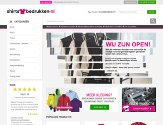 shirts-bedrukken.com screenshot