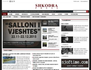 shkodrapress.com screenshot