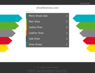 shoelikeman.com screenshot
