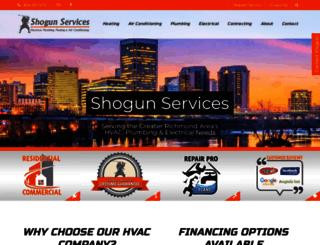 shogunservices.com screenshot