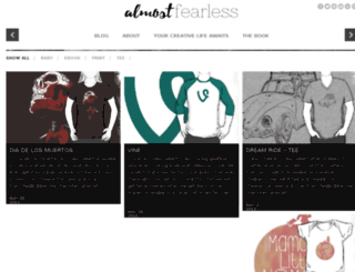 shop.almostfearless.com screenshot