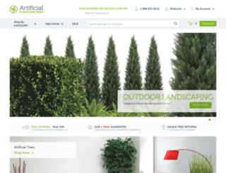 shop.artificialplantsandtrees.com screenshot