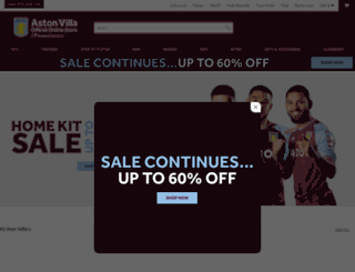 shop.avfc.co.uk screenshot