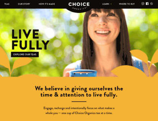 shop.choiceorganicteas.com screenshot
