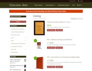 shop.conjuringarts.org screenshot