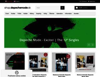 shop.depechemode.sk screenshot