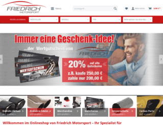 shop.friedrich-motorsport.de screenshot