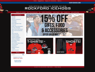 shop.icehogs.com screenshot