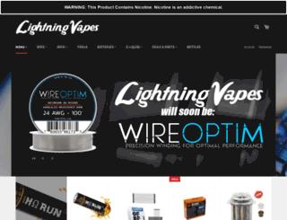 shop.lightningvapes.com screenshot