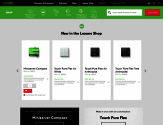 shop.loxone.com screenshot