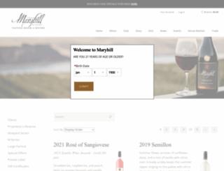 shop.maryhillwinery.com screenshot