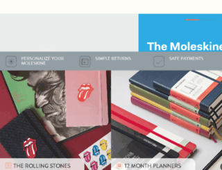 shop.moleskine.com screenshot