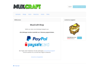 shop.muxcraft.eu screenshot