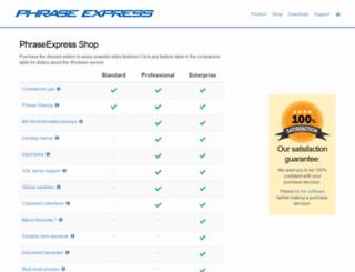 shop.phraseexpress.com screenshot