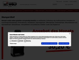 shop.stempel-wolf.de screenshot