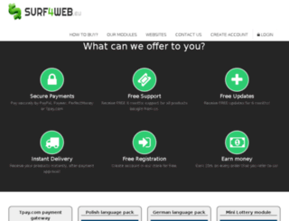shop.surf4web.eu screenshot