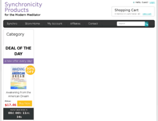 shop.synchronicity.org screenshot