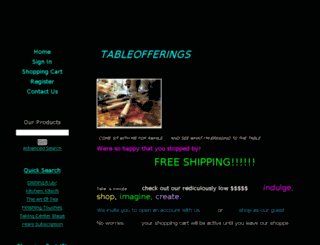 shop.tableofferings.com screenshot