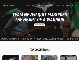 shop.teamneverquit.com screenshot