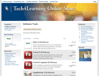 shop.tech4learning.com screenshot