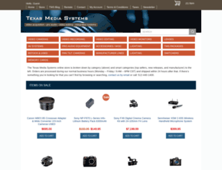 shop.texasmediasystems.com screenshot