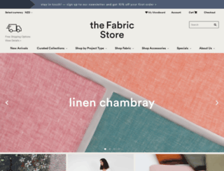 shop.thefabricstore.co.nz screenshot