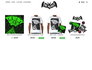 shop.theheavy.co.uk screenshot