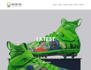shop.whynotyoufoundation.com screenshot