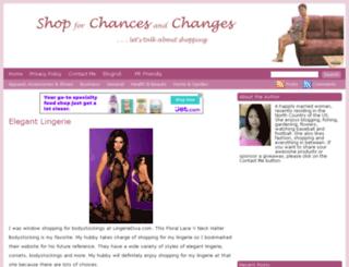 shop4chancesandchanges.com screenshot