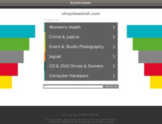 shopdeadnet.com screenshot