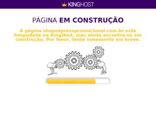 shopexpresspromocional.com.br screenshot