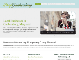 shopgaithersburg.com screenshot