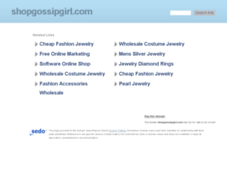 shopgossipgirl.com screenshot