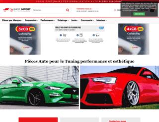 shopimport-tuning.com screenshot