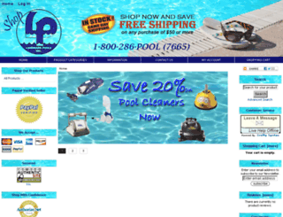 shoplandmarkpools.com screenshot