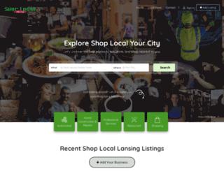 shoplocallansing.com screenshot