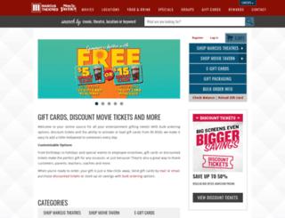 shopmarcustheatres.com screenshot