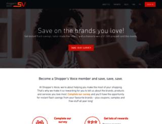 shoppers-voice.ca screenshot