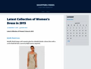 shoppersfeeds.wordpress.com screenshot