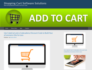 shopping-cart-software-solution.com screenshot