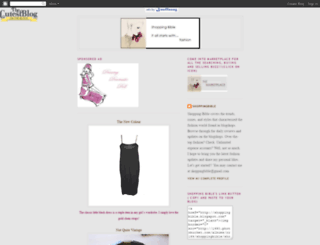 shoppingbible.blogspot.com screenshot