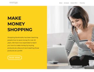 shoppingbookmarks.com screenshot