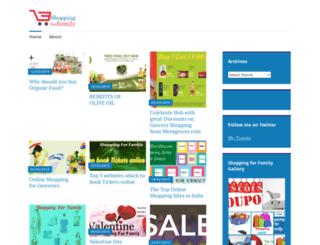 shoppingforfamily.wordpress.com screenshot